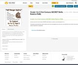 Grade 1 & 2 21st Century SECRET Skills Rubrics PeBL