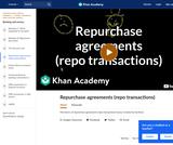 Banking, Money, Finance: Mechanics of Repurchase Agreements