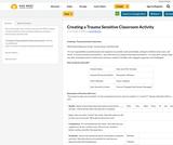 Creating a Trauma Sensitive Classroom Activity