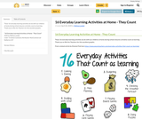16 Everyday Learning Activities at Home - They Count