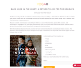 Back Home in the Heart — Yoga Ed.