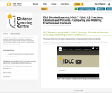 DLC Blended Learning Math 7 - Unit 3.2: Fractions, Decimals and Percents - Comparing and Ordering Fractions and Decimals