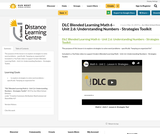 DLC Blended Learning Math 6 - Unit 2.6: Understanding Numbers - Strategies Toolkit