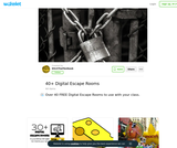 40+ Digital Escape Rooms to use with your class.