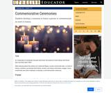 Commemorative Ceremonies Lesson