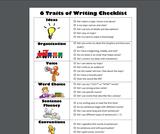 6 Traits of Writing Checklist