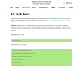 Ed Tech Tools - Saskatchewan School Library Association