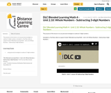 DLC Blended Learning Math 4 - Unit 2.10: Whole Numbers - Subtracting 3-digit Numbers