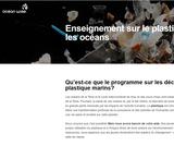 Enseignement sur le plastique dans les océans