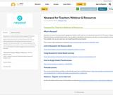 Nearpod for Teachers Webinar & Resources