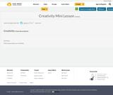 Creativity Mini Lesson