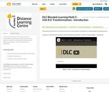 DLC Blended Learning Math 5 - Unit 8.0: Transformations - Introduction