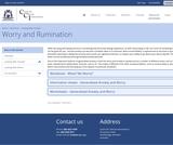 Generalised Anxiety Self-Help Resources
