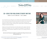 50+ Ideas for Publishing Student Writing
