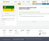 Saskatchewan High School Credit Options for Students