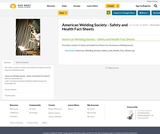 American Welding Society - Safety and Health Fact Sheets