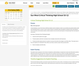 Critical Thinking Guidebook - 10-12 (High School) Sun West