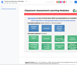 Classroom Assessment Learning Modules from Center for Assessment