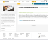ELA B30: Assess and Reflect Activities