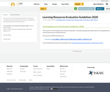 Learning Resources Evaluation Guidelines 2020