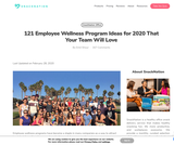 121 Employee Wellness Program Ideas for 2020 That Your Team Will Love