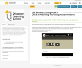 DLC Blended Learning Math 3 - Unit 1.4: Patterning - Increasing Number Patterns