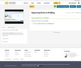 Approving Posts in KidBlog