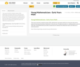Young Mathematicians - Early Years Math