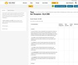 Teacher Template– ELA 30B