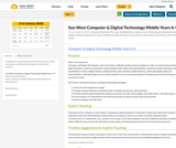 Computer & Digital Technology Guidebook - 6-9 (Middle Years) Sun West