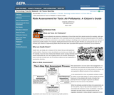 Risk Assessment for Toxic Air Pollutants: A Citizen's Guide
