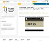 DLC Blended Learning Math 5 - Unit 2.2: Whole Numbers - Exploring One Million
