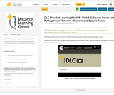 DLC Blended Learning Math 8 - Unit 1.2: Square Roots and Pythagorean Theorem - Squares and Square Roots