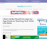 An Age-by-Age Guide to Teaching Your Child Life Skills