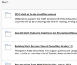 1 - Ministry Supports for Math at Grade Level from SK