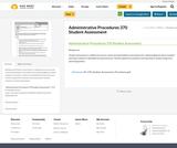 Administrative Procedures 370 Student Assessment