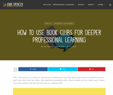 How to Use Book Clubs for Deeper Professional Learning
