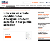 How can we create conditions for Aboriginal student success in our public schools?