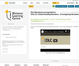 DLC Blended Learning Math 6 - Unit 2.5: Understanding Numbers - Investigating Numbers