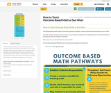 How to Teach Outcome Based Math at Sun West