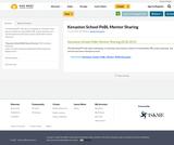 Kenaston School PeBL Mentor Sharing