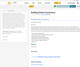 Building Online Connections
