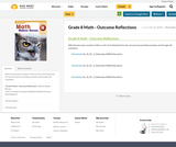 Grade 8 Math - Outcome Reflections