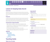 CS Discoveries 2019-2020: Data and Society Lesson 5.6: Keeping Data Secret