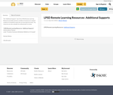 LPSD Remote Learning Resources- Additional Supports