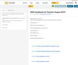 MSS Handbooks for Teachers August 2019