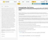 Learning Guide- 21st Century Competencies: Professional Development Focus for 2013-2014