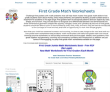 First Grade Math Worksheets - Free Printable Math PDFs