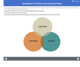 Examples of Active Learning Activities