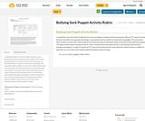 Bullying Sock Puppet Activity Rubric